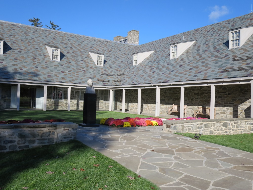 FDR's Presidential Library (the only one opened by a sitting President) has been recently reopened.  I love the Dutch colonial influence and the local stonework.