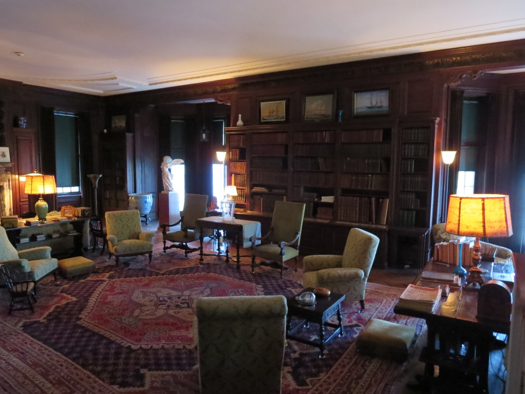 The main library wing.  I wish you could have seen the parquet floors!
