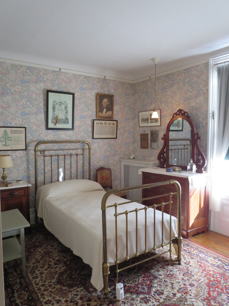 FDR's boyhood room, which each of his sons used in succession.