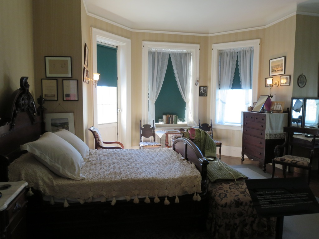 FDR's adult bedroom.  It was reflect on the fact that FDR experienced all of the major stages of his life in this home, and each of the stages is represented by another room down the same hallway.