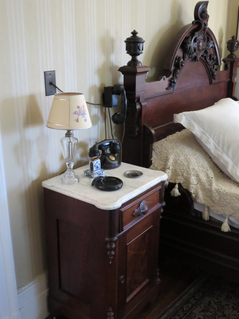 The bat phone, next to FDR's bed.  Seriously - it was a phone with a direct line to the White House.